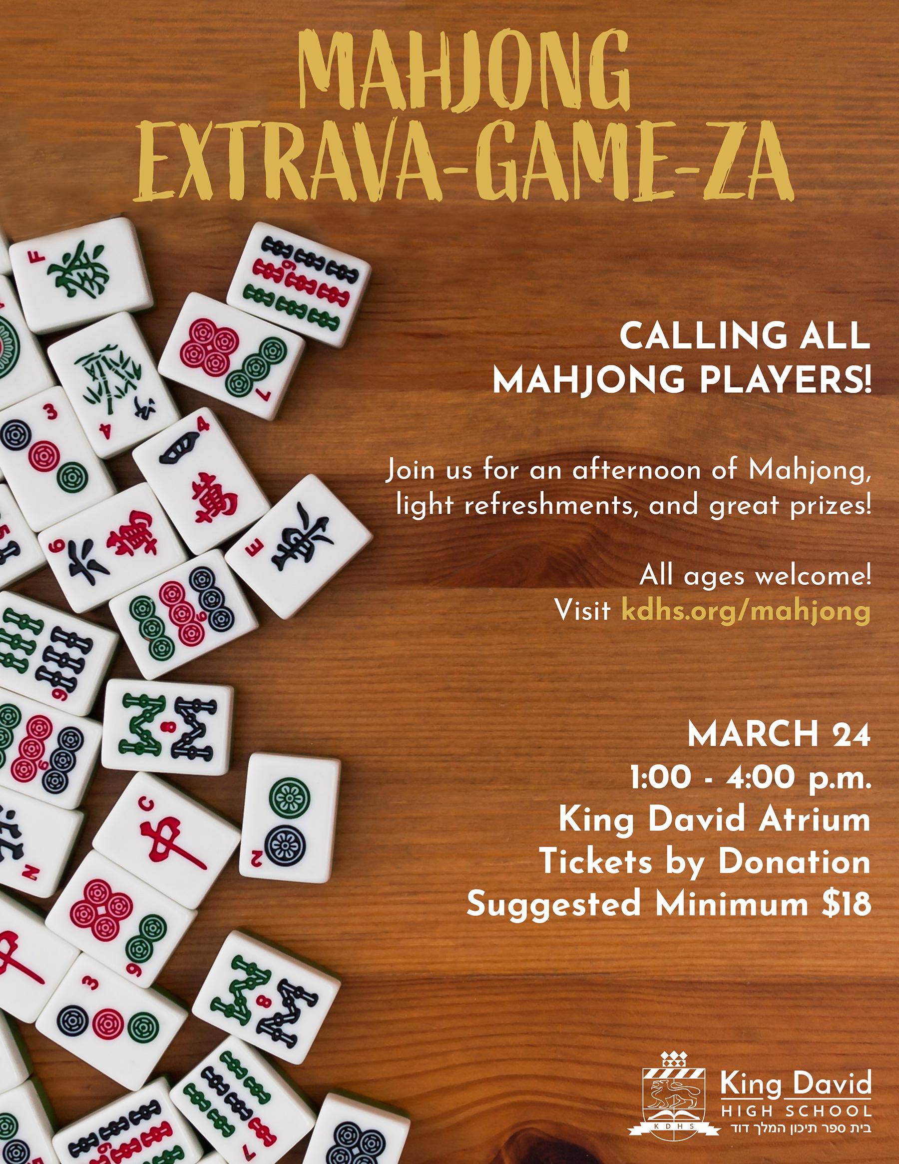 Mahjong Event Poster